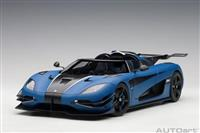1:18 Koenigsegg One:1 (Matt Imperial Blue / Carbon Black / White Accents) 2014