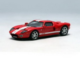 1:64 FORD GT 2004 RED/WHITE STRIPE