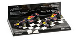 1:43 2-CAR SET - RED BULL RACING RB7 CHAMPION 2011