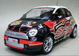 1:18 FIAT 500 WROOM VERSION KIMI 2008